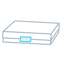 菓子箱用両サイド封緘貼り